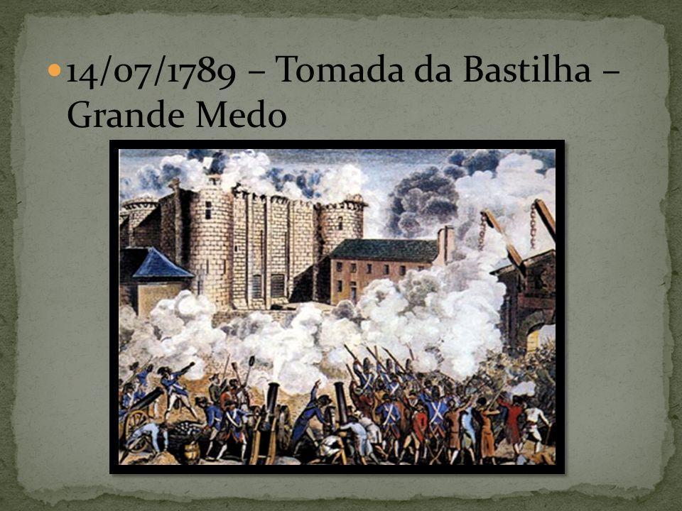 14/07/1789 – Tomada da Bastilha – Grande Medo