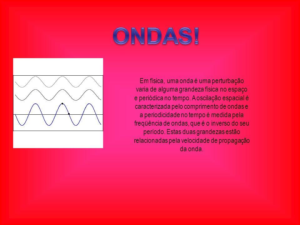 Em física, uma onda é uma perturbação varia de alguma grandeza física no espaço e periódica no tempo.