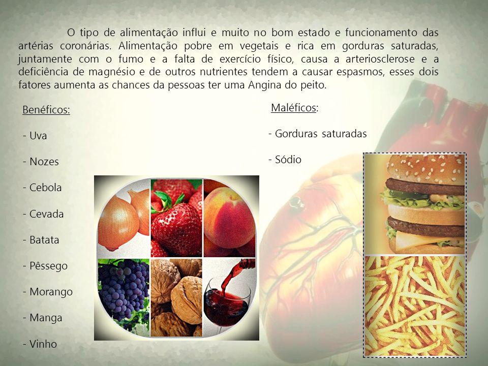 O tipo de alimentação influi e muito no bom estado e funcionamento das artérias coronárias. Alimentação pobre em vegetais e rica em gorduras saturadas