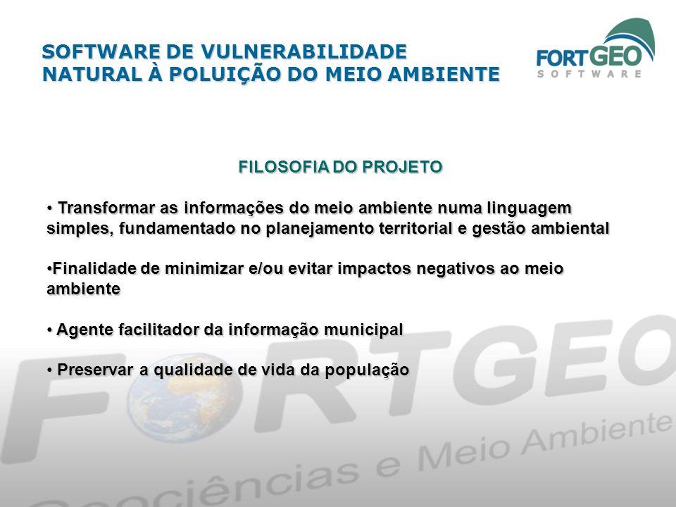 OBJETIVO Pesquisar, desenvolver e adequar as informações do meio natural dos Pesquisar, desenvolver e adequar as informações do meio natural dos Municípios do Estado de São Paulo (Área Piloto: Araraquara) no Municípios do Estado de São Paulo (Área Piloto: Araraquara) no FortGEO software FortGEO software.