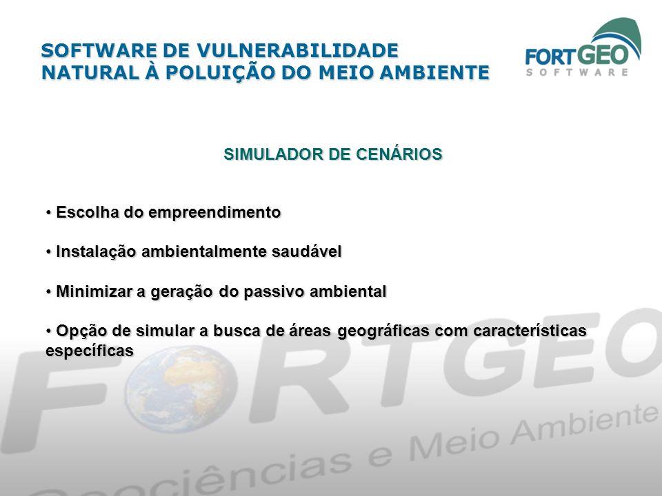 SIMULADOR DE CENÁRIOS Escolha do empreendimento Escolha do empreendimento Instalação ambientalmente saudável Instalação ambientalmente saudável Minimi