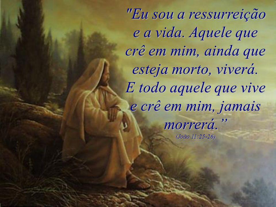 Eu sou a ressurreição e a vida.Aquele que crê em mim, ainda que esteja morto, viverá.