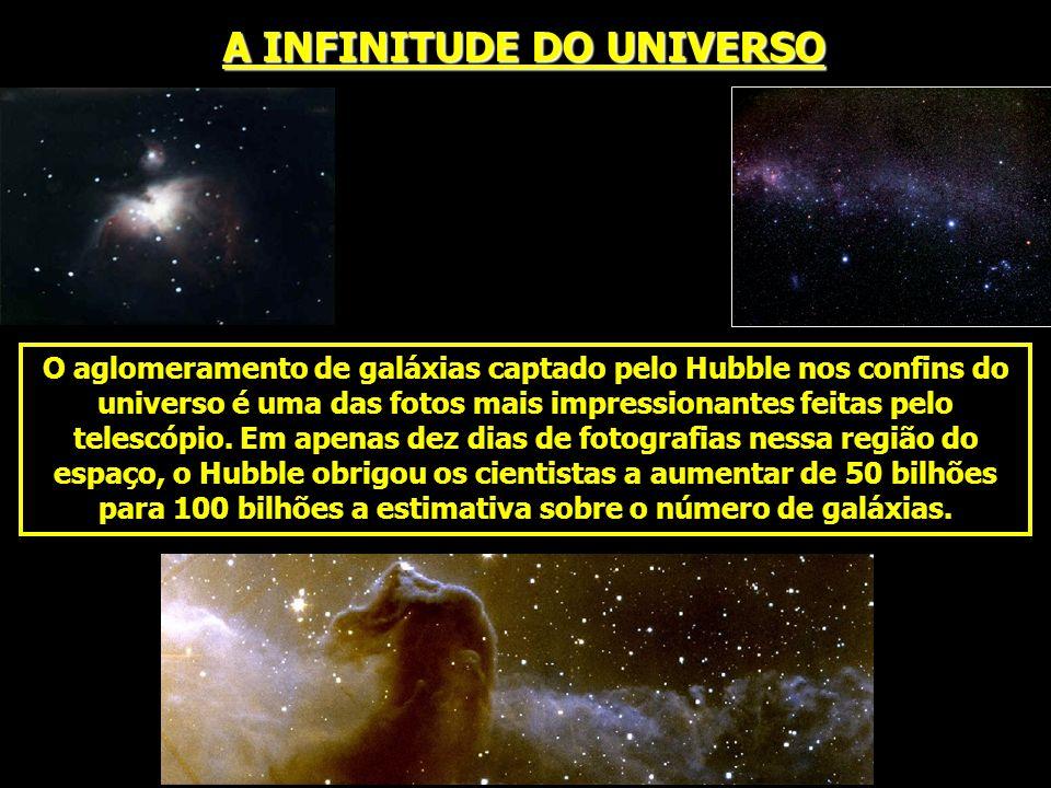 O aglomeramento de galáxias captado pelo Hubble nos confins do universo é uma das fotos mais impressionantes feitas pelo telescópio. Em apenas dez dia