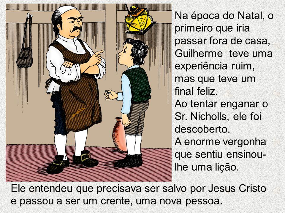 Ele entendeu que precisava ser salvo por Jesus Cristo e passou a ser um crente, uma nova pessoa. Na época do Natal, o primeiro que iria passar fora de