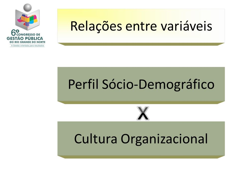 Relações entre variáveis Perfil Sócio-Demográfico Cultura Organizacional