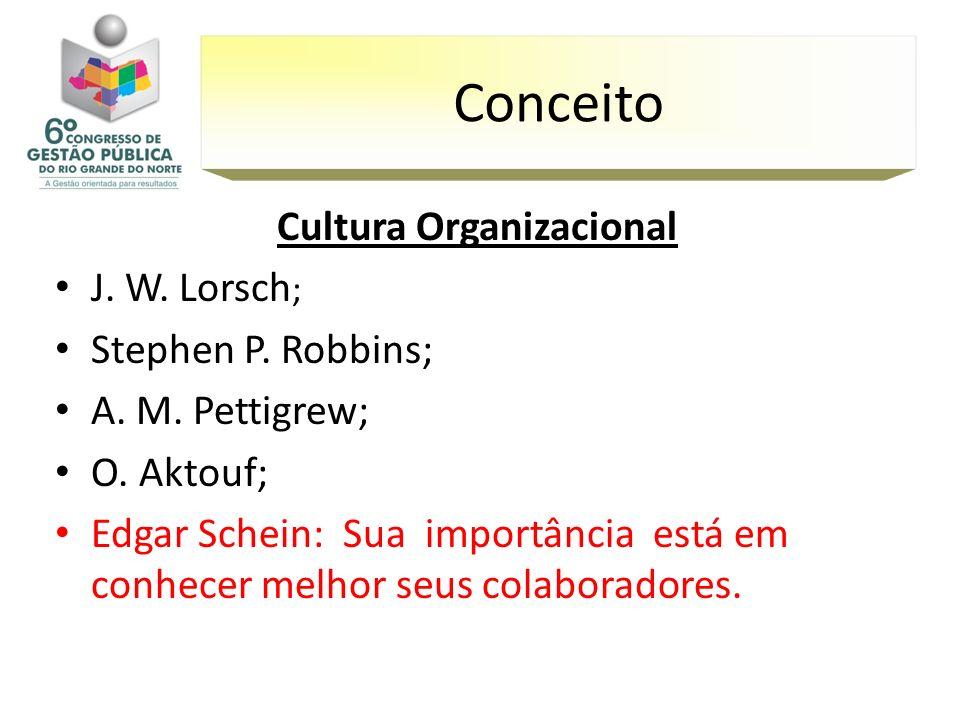 Cultura Organizacional J. W. Lorsch ; Stephen P. Robbins; A. M. Pettigrew; O. Aktouf; Edgar Schein: Sua importância está em conhecer melhor seus colab