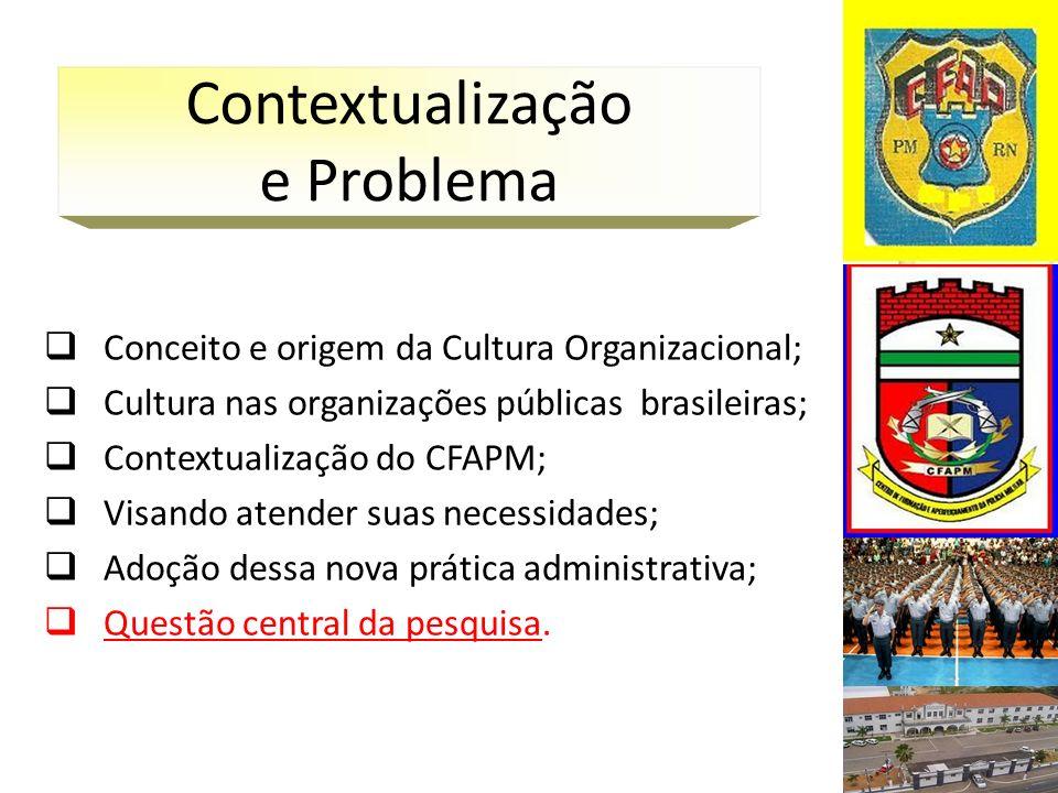 Qual a Cultura Organizacional presente no Centro de Formação e Aperfeiçoamento da Polícia Militar do Rio Grande do Norte.