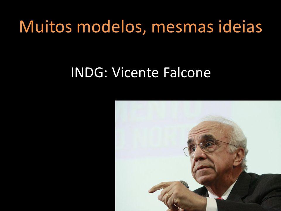 Muitos modelos, mesmas ideias INDG: Vicente Falcone