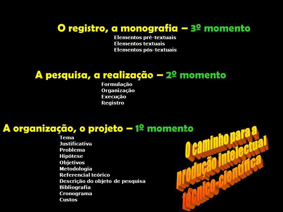 7 O projeto técnico-científico