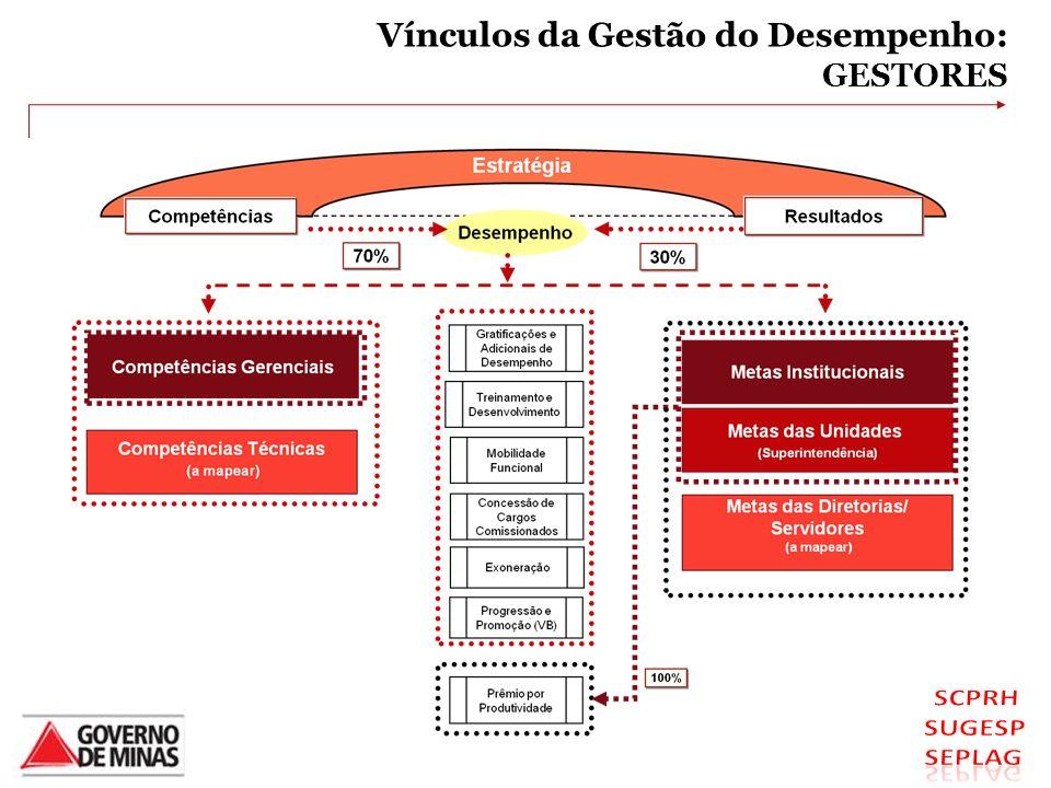 VÍNCULOS DA GESTÃO DO DESEMPENHO - GESTORES Vínculos da Gestão do Desempenho: GESTORES