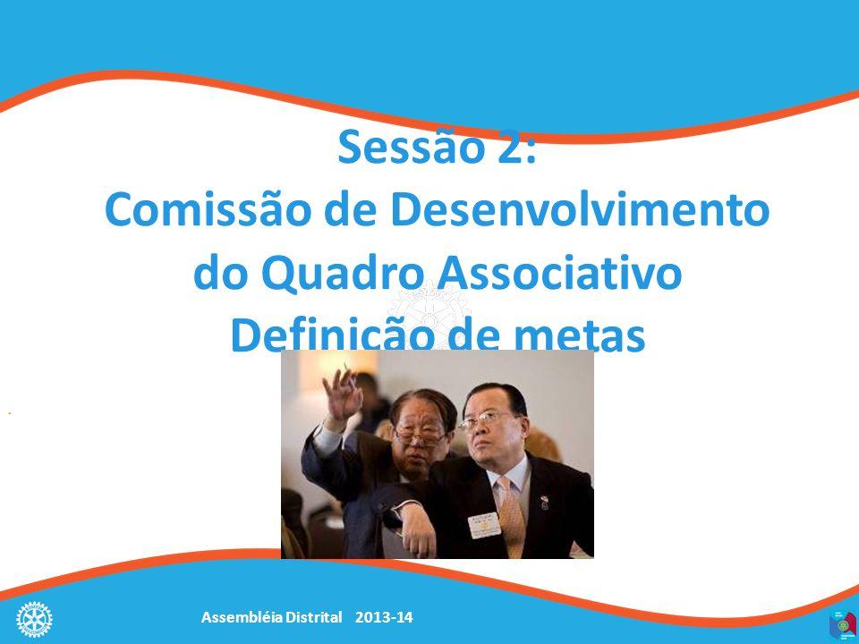 Assembléia Distrital 2013-14 Sessão 2: Comissão de Desenvolvimento do Quadro Associativo Definição de metas