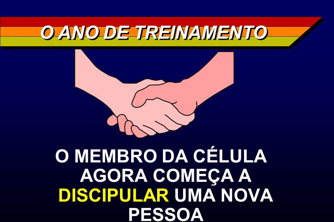 O MEMBRO DA CÉLULA AGORA COMEÇA A DISCIPULAR UMA NOVA PESSOA O ANO DE TREINAMENTO