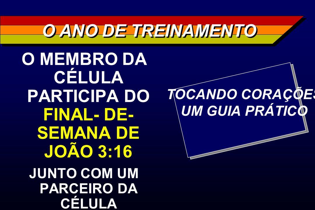 O MEMBRO DA CÉLULA PARTICIPA DO FINAL- DE- SEMANA DE JOÃO 3:16 JUNTO COM UM PARCEIRO DA CÉLULA O ANO DE TREINAMENTO TOCANDO CORAÇÕES UM GUIA PRÁTICO