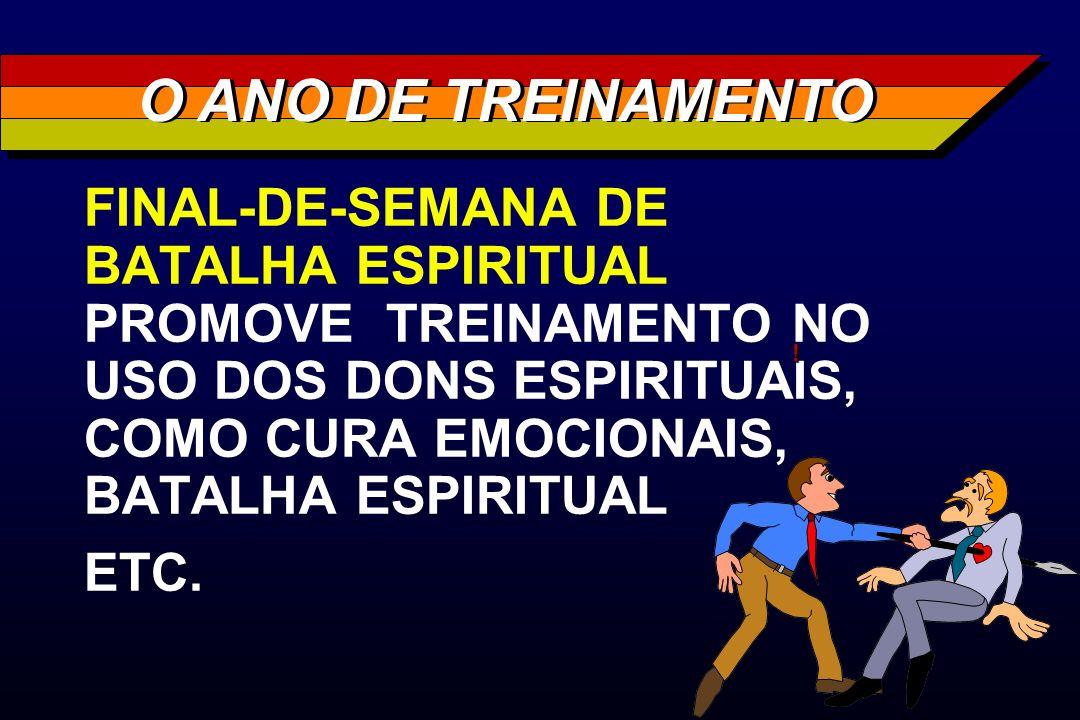 FINAL-DE-SEMANA DE BATALHA ESPIRITUAL PROMOVE TREINAMENTO NO USO DOS DONS ESPIRITUAIS, COMO CURA EMOCIONAIS, BATALHA ESPIRITUAL ETC. O ANO DE TREINAME