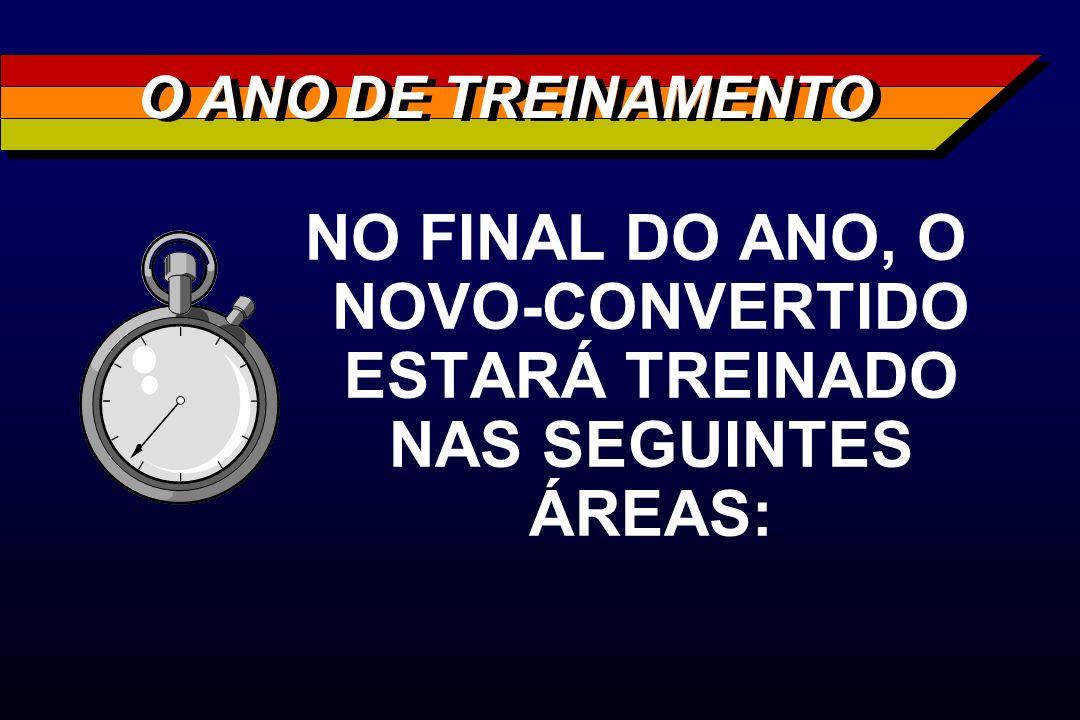 NO FINAL DO ANO, O NOVO-CONVERTIDO ESTARÁ TREINADO NAS SEGUINTES ÁREAS: O ANO DE TREINAMENTO