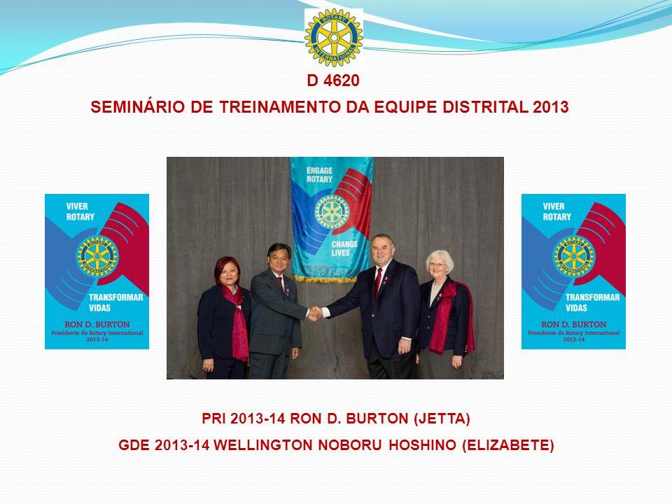 D 4620 PRI 2013-14 RON D. BURTON (JETTA) GDE 2013-14 WELLINGTON NOBORU HOSHINO (ELIZABETE) SEMINÁRIO DE TREINAMENTO DA EQUIPE DISTRITAL 2013
