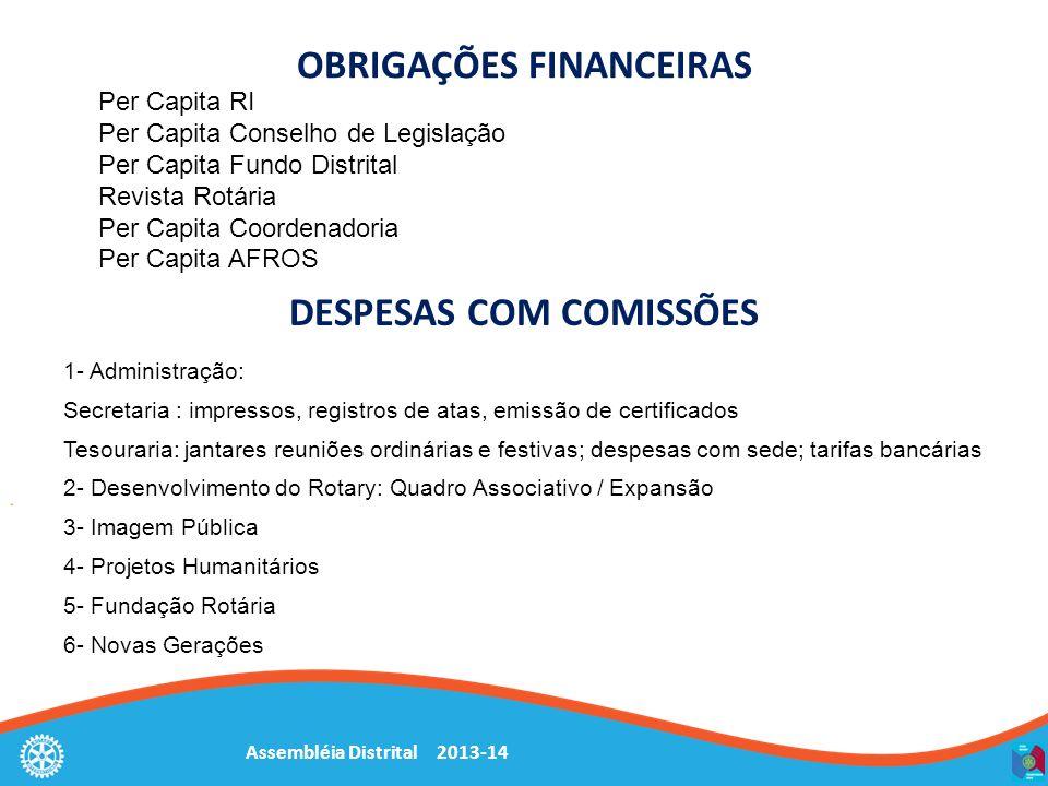Assembléia Distrital 2013-14 Sessão 3: Tesoureiros de clube Estudos de caso