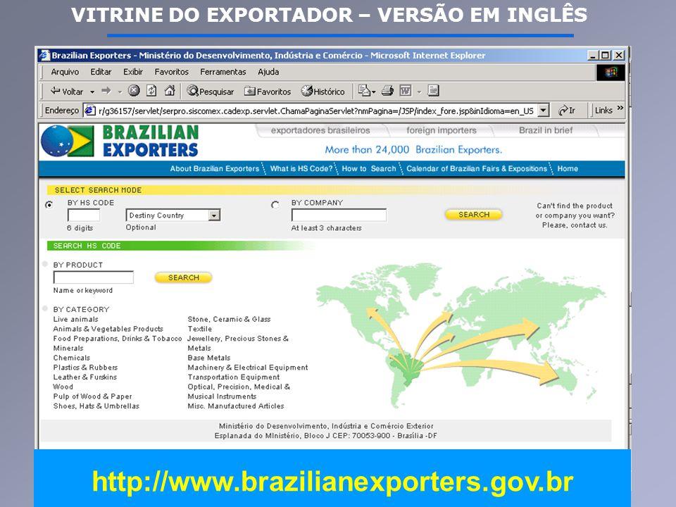 http://www.brazilianexporters.gov.br VITRINE DO EXPORTADOR – VERSÃO EM INGLÊS