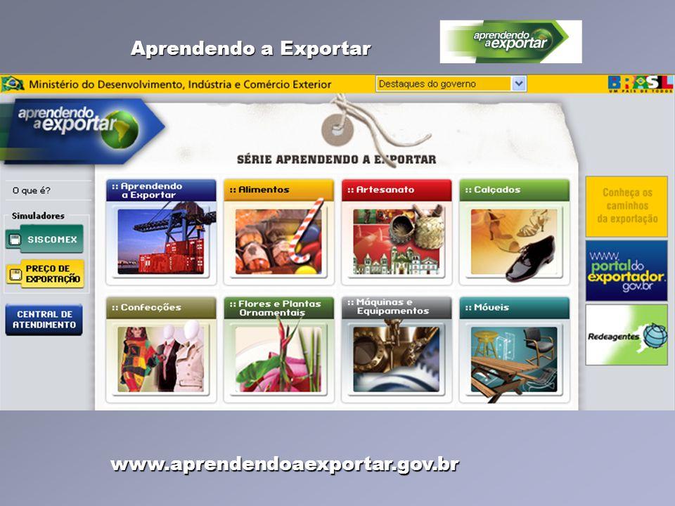 www.aprendendoaexportar.gov.br Aprendendo a Exportar