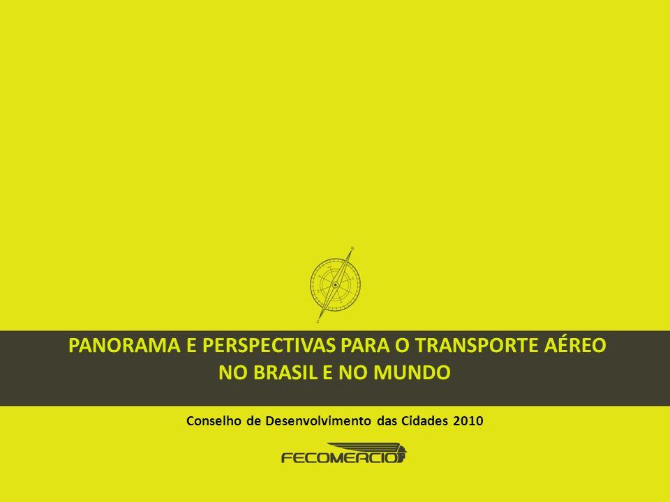 PROJETO PERSPECTIVA DO DESENVOLVIMENTO BRASILEIRO LIVRO EIXO DE INFRAESTRUTURA ECONÔMICA Panorama e Perspectivas para o Transporte Aéreo no Brasil e no Mundo Justificativa
