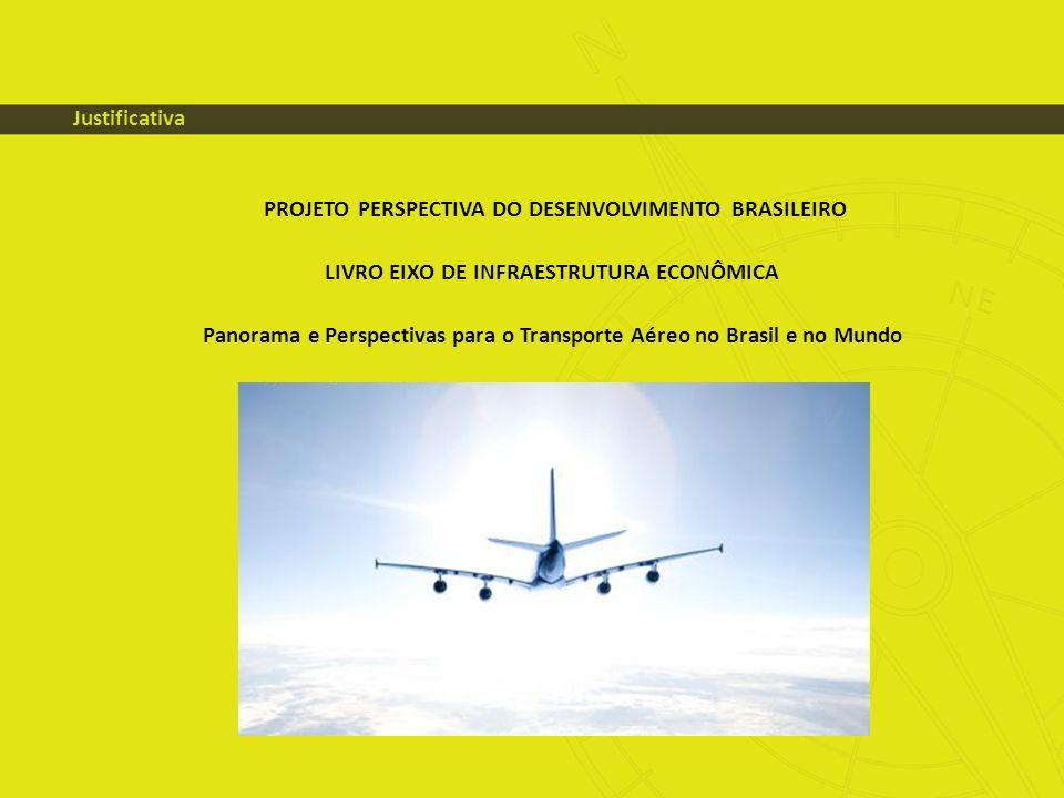 PROJETO PERSPECTIVA DO DESENVOLVIMENTO BRASILEIRO LIVRO EIXO DE INFRAESTRUTURA ECONÔMICA Panorama e Perspectivas para o Transporte Aéreo no Brasil e n