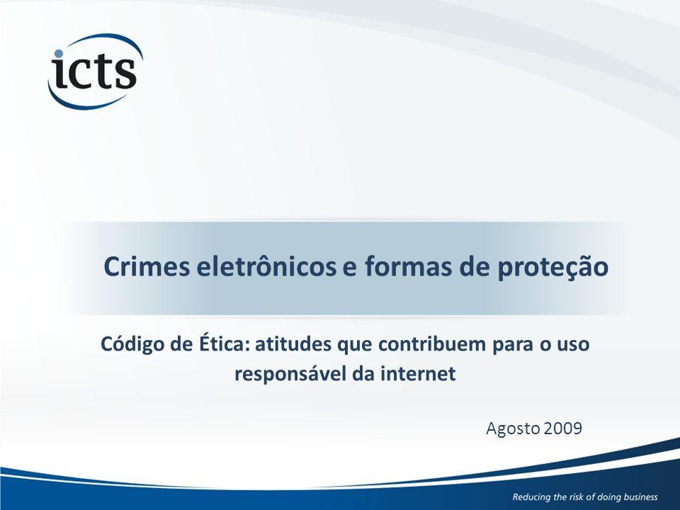 © ICTS Global 2009 3 A ICTS é uma empresa internacional de consultoria e serviços em gestão de riscos, operando no Brasil desde 1995, com mais de 100 clientes dentre as maiores organizações de diversos setores, tais como varejo, bens de consumo, indústria, serviços financeiros, recursos naturais e telecomunicações.