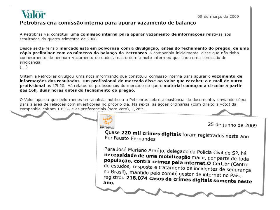 © ICTS Global 2009 Petrobras cria comissão interna para apurar vazamento de balanço 09 de março de 2009 A Petrobras vai constituir uma comissão intern
