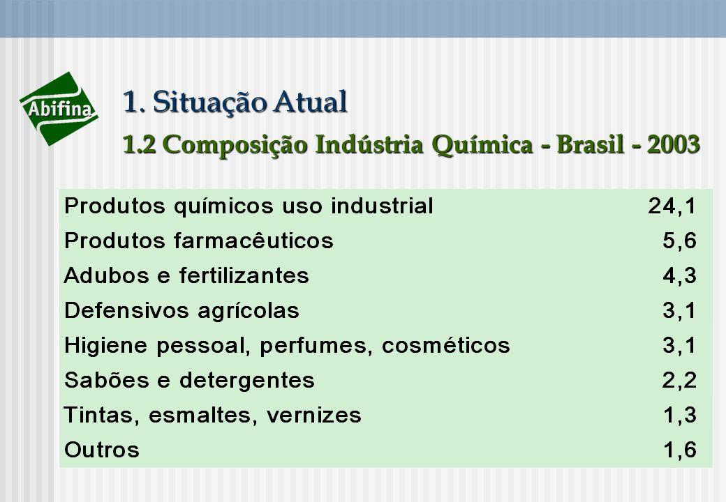 1. Situação Atual 1.2 Composição Indústria Química - Brasil - 2003