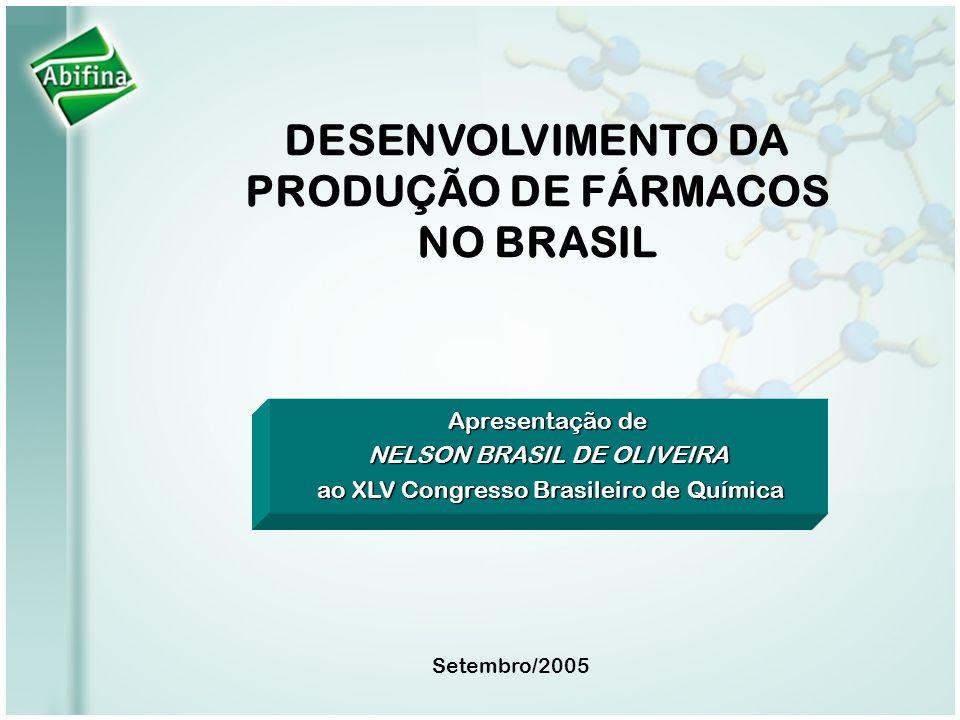 Apresentação de NELSON BRASIL DE OLIVEIRA ao XLV Congresso Brasileiro de Química ao XLV Congresso Brasileiro de Química Setembro/2005 DESENVOLVIMENTO
