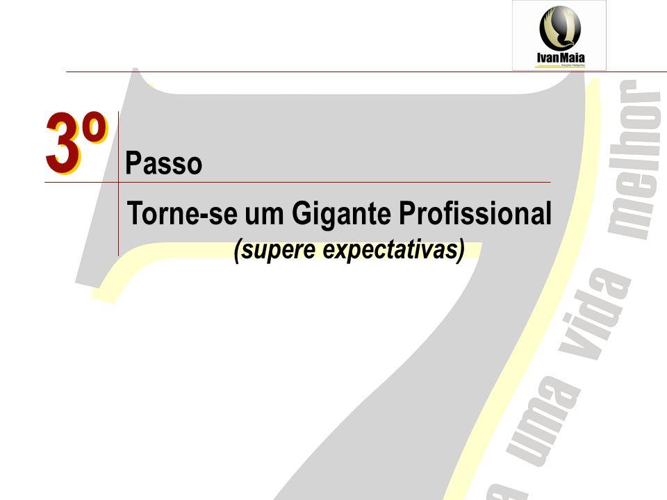 3º Passo Torne-se um Gigante Profissional (supere expectativas) 3º