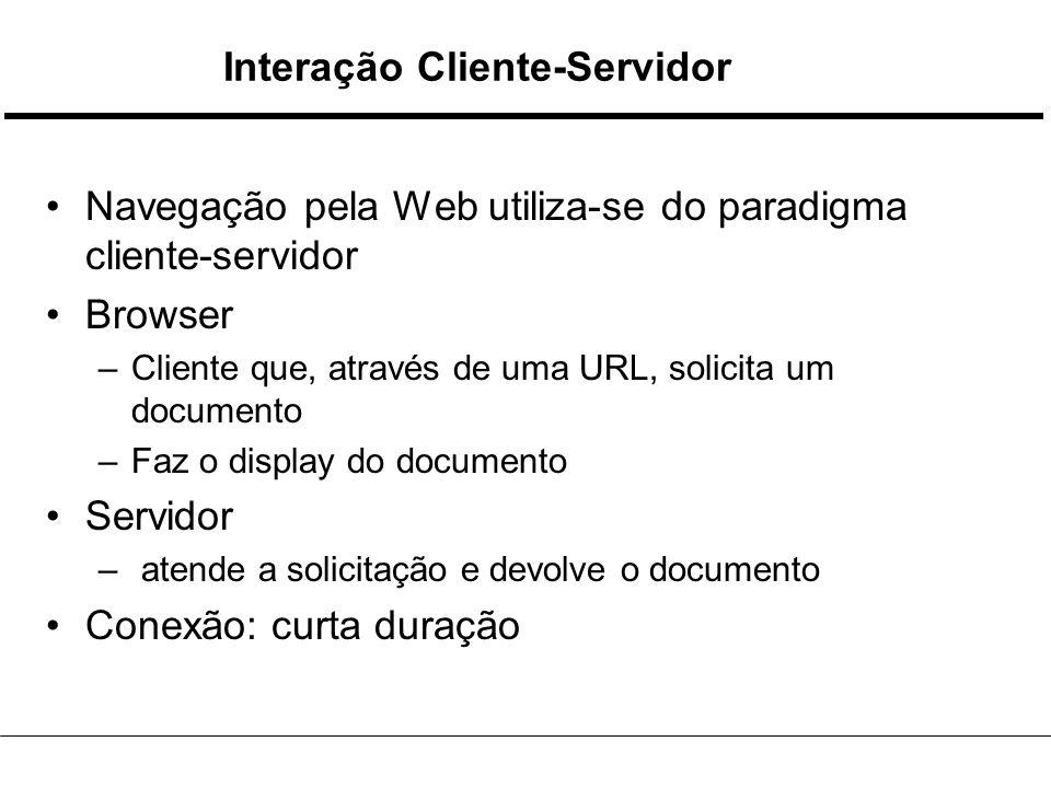 Estrutura de um Cliente controlador Interp.HTML Interp.