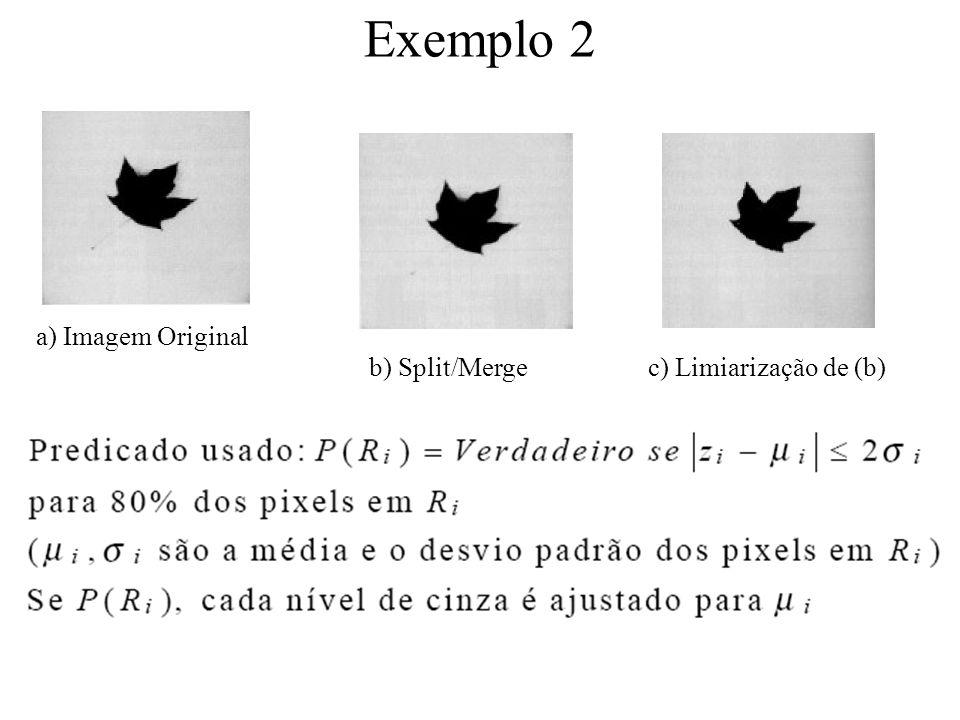 Exemplo 1 P(R) = Falso R = imagem inteira R 1 = ok R1R1