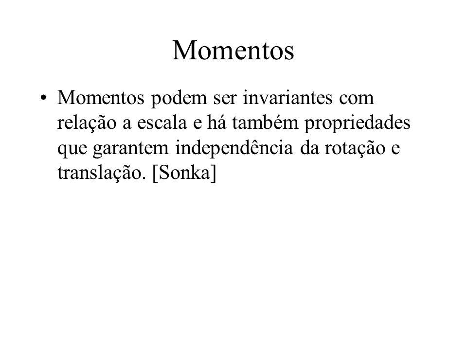 Momentos O momento da fórmula anterior foi definido sobre o ponto zero Se o definirmos sobre a média, teremos um momento invariante à translação, conh