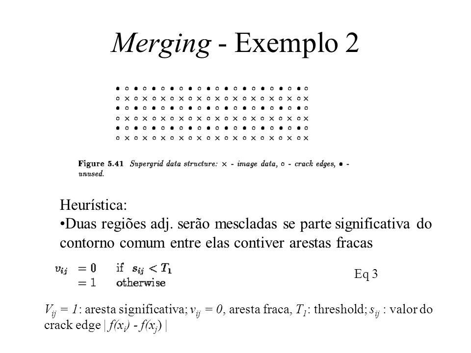 Exemplo 2 (a) imagem original e semente (b) crescimento primário (c) crescimento intermediário (d) crescimento final Vizinhança 8 e Predicado: |f(x,y)