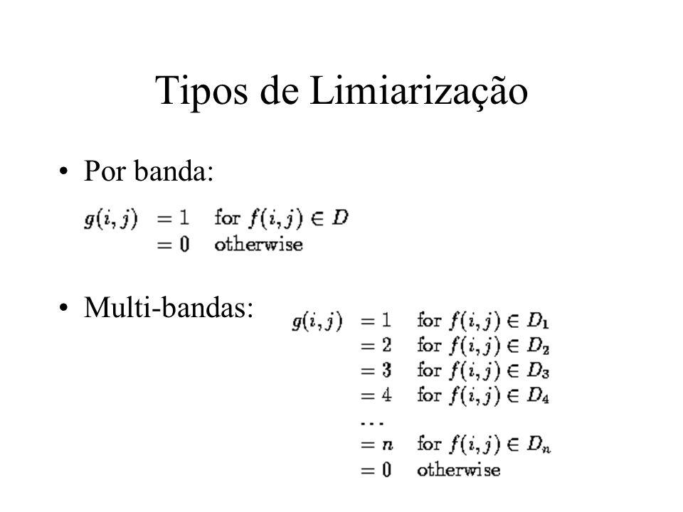Thresholding Objetos que não se tocam nível distinto do fundo (background) Determinação do limiar correto (Threshold) é crucial –interativamente –auto