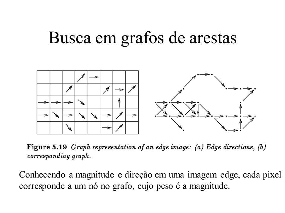 Seg. Bordas: Grafos de arestas Quando existe conhecimento a priori da direção da borda Usar esse conhecimento (magnitude ou direção das arestas) como