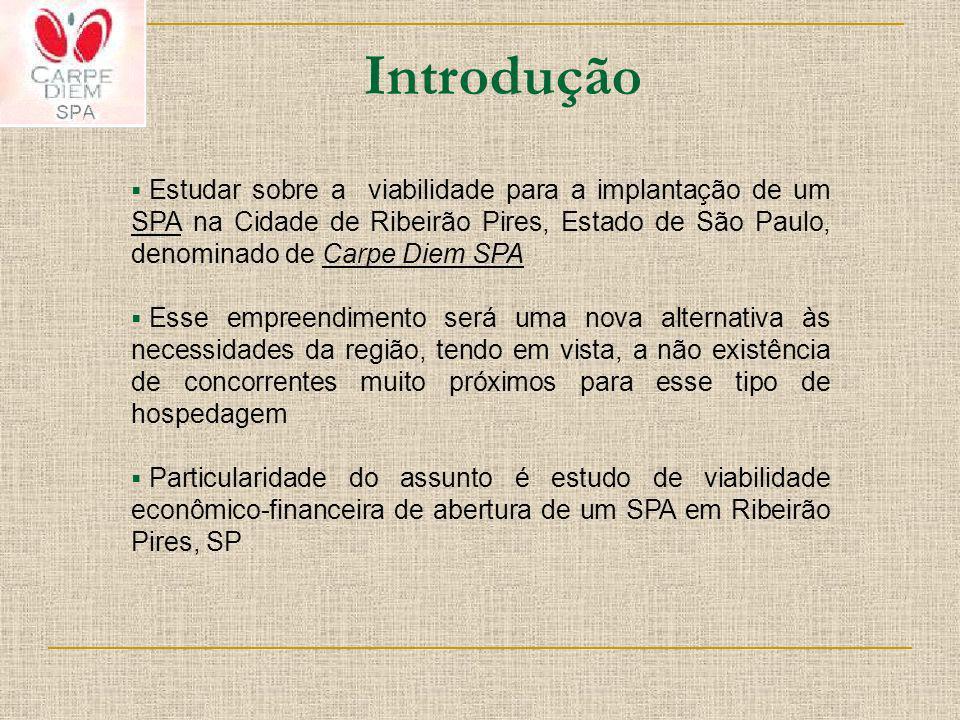 Estudar sobre a viabilidade para a implantação de um SPA na Cidade de Ribeirão Pires, Estado de São Paulo, denominado de Carpe Diem SPA Esse empreendi