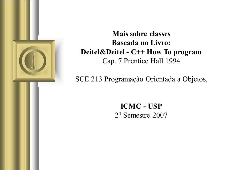 ICMC/USP SCE-213 POO 32 Contagem de número de objetos de uma classe (2/6) (uso de armazenamento estático)