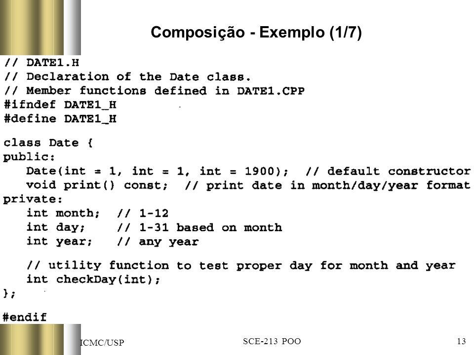 ICMC/USP SCE-213 POO 13 Composição - Exemplo (1/7)
