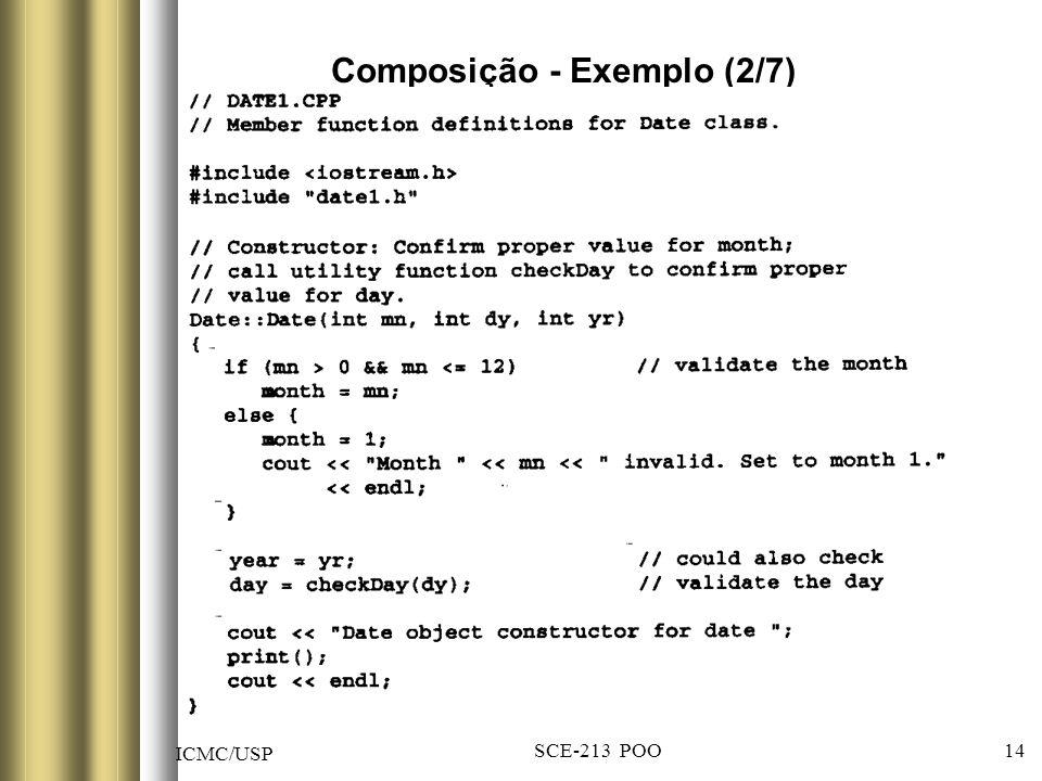ICMC/USP SCE-213 POO 14 Composição - Exemplo (2/7)