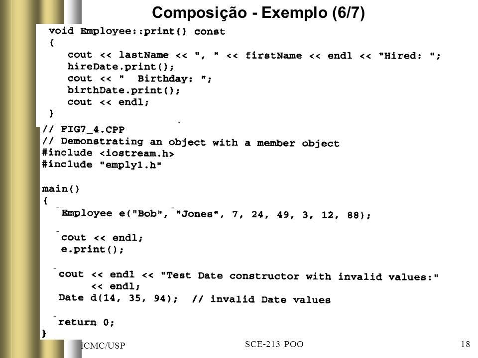 ICMC/USP SCE-213 POO 18 Composição - Exemplo (6/7)