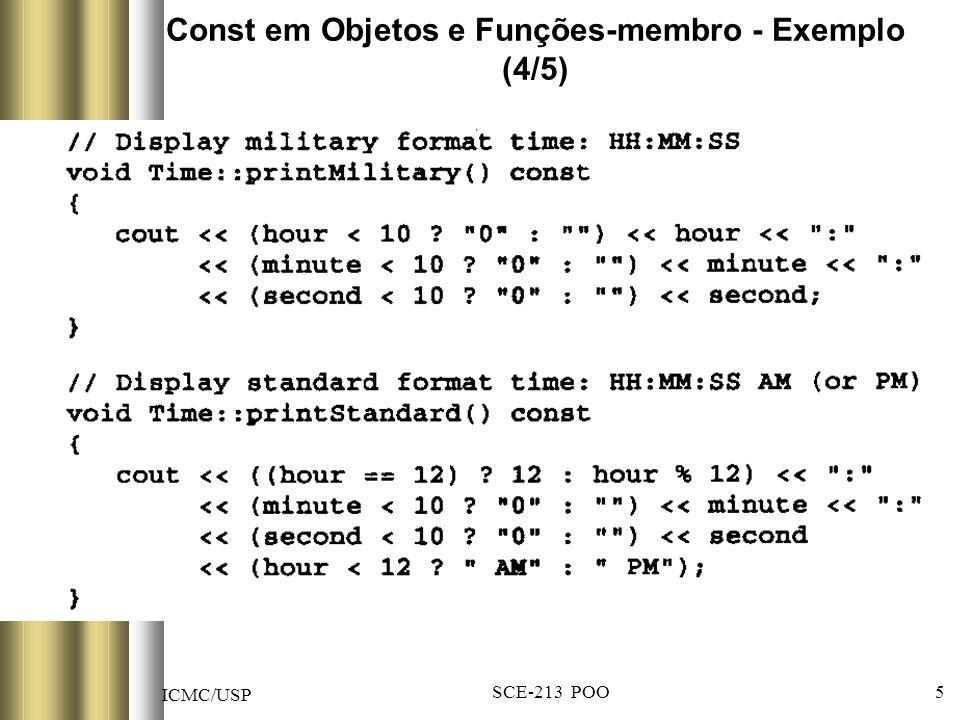 ICMC/USP SCE-213 POO 26 Encadeamento de Funções-membro (1/5)