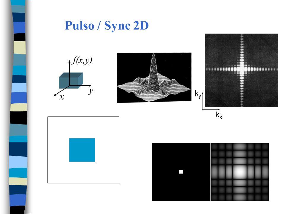 Filtrando no espectro Filtro baixa freq.F(u) = 0   u = 1..13   u = 288..300 Filtro alta freq.