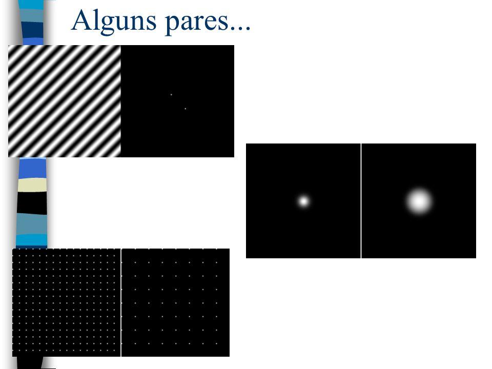 Aplicações da FT em imagens: n Filtros n Gaussiana n Marr-Hildreth n Convolução n Descritores de fourier