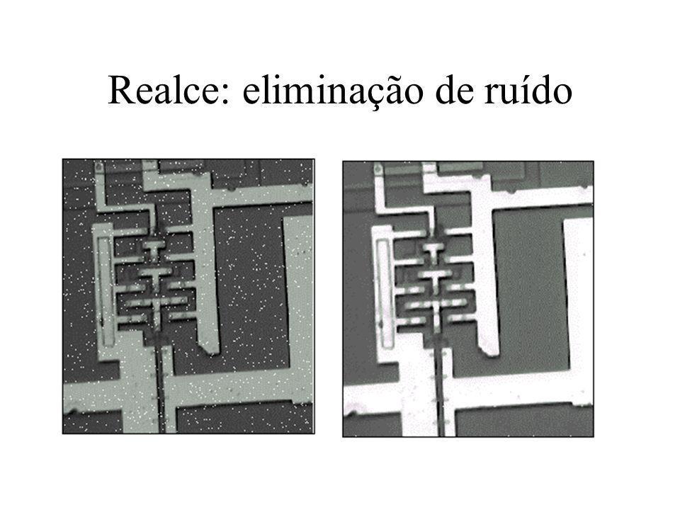 Exemplo de Realce de contraste Típica operação do tipo s = T(r), conhecida como contrast stretching.