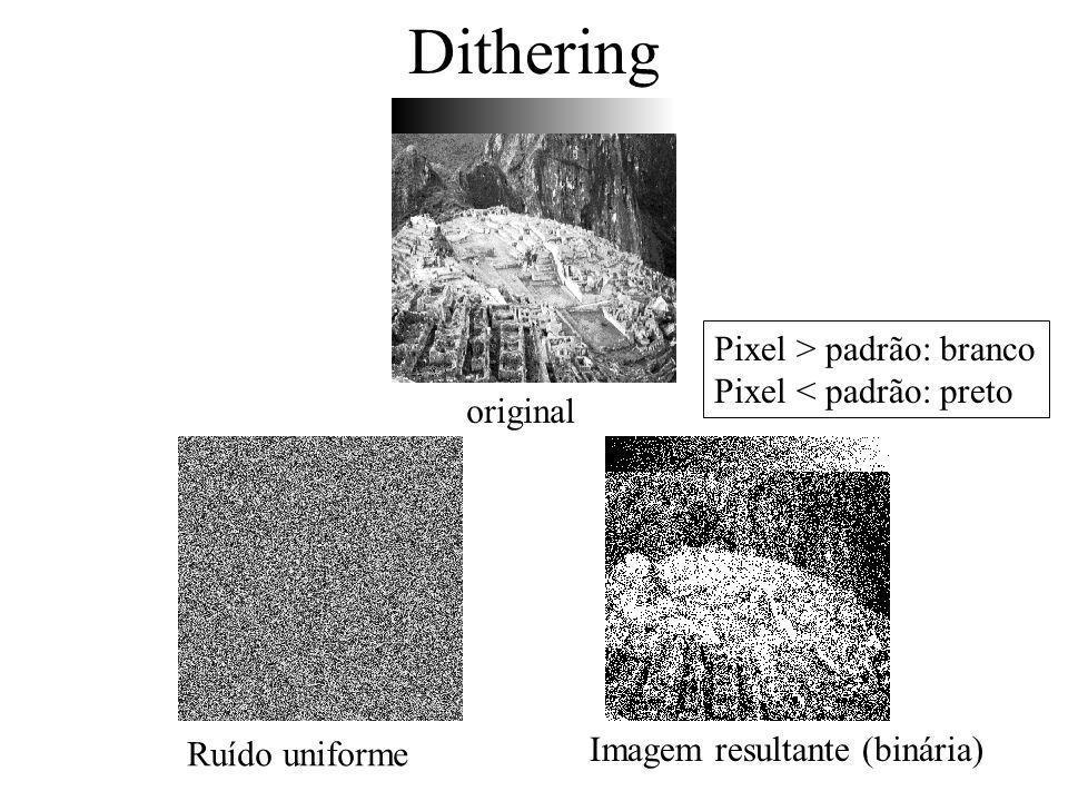 Como reduzir efeito da quantização Halftoning Dithering Halftoning