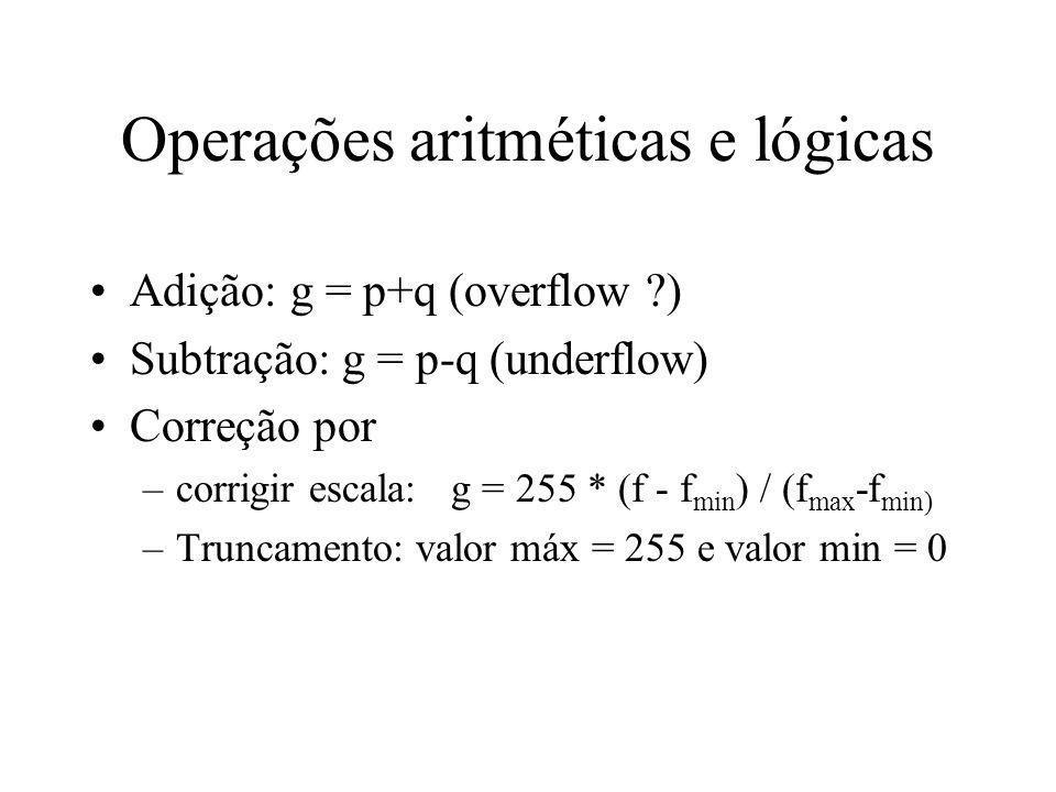 Propriedades: distâncias Sejam os pixels p = (x,y), q = (s,t), z = (u,v).