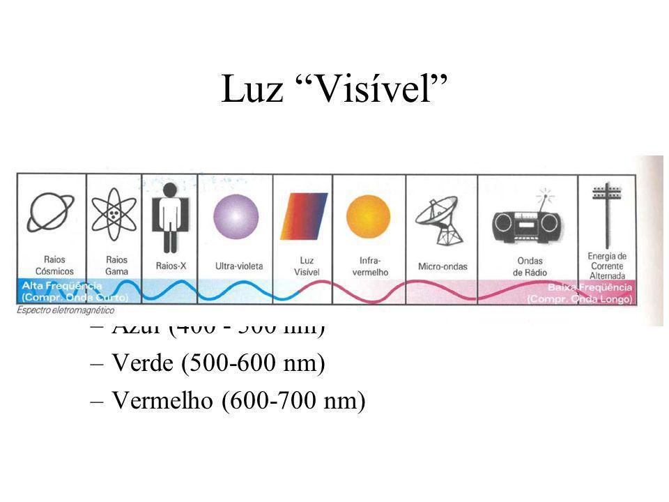 Cores Pode ser um poderoso descritor das propriedades de um objeto -> segmentação Humanos podem distinguir uma ampla variedade de nuances de cores, enquanto que poucos tons de cinza são perceptíveis (cerca de 100) full colour ou pseudo-cor