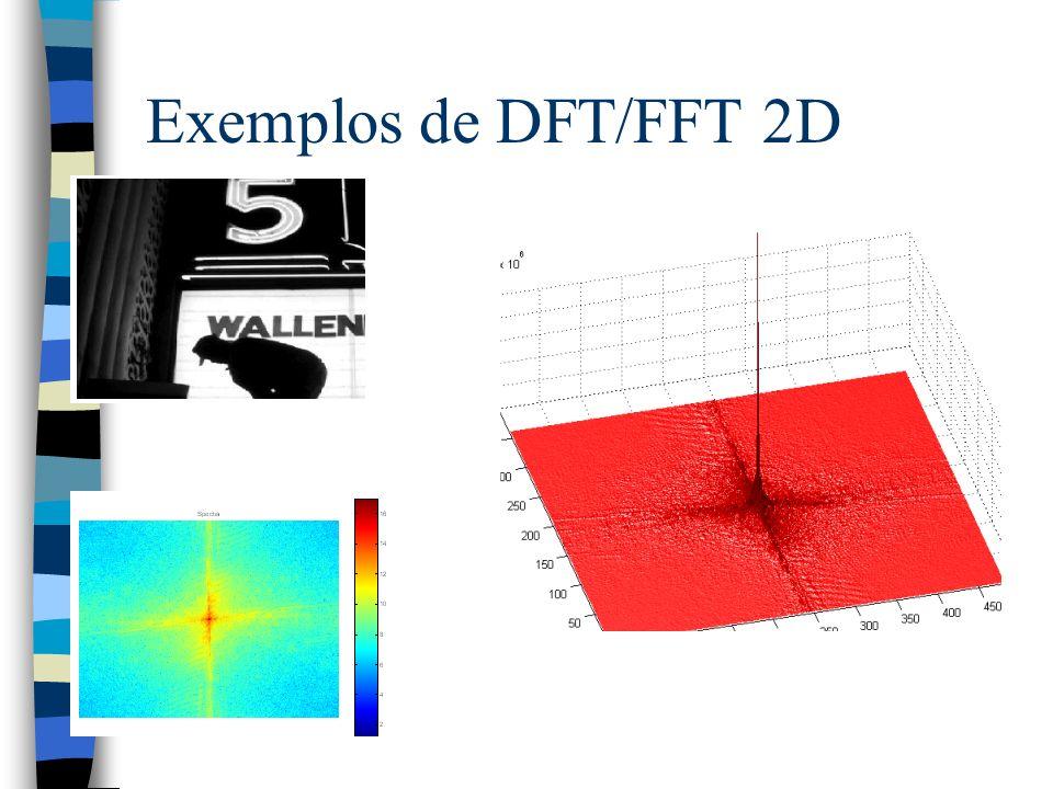 Exemplos de DFT/FFT 2D