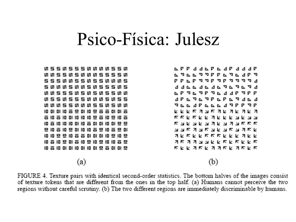 Estatística de primeira ordem: depende somente de valores de pixel individuais e não da interação ou co-ocorrência de pixels vizinhos. Pode ser comput